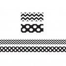 Black & White Zig Zag Double Sided
