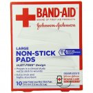 Band-Aid First Aid Covers Non-Stick Pads, Large, 10 Count