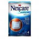 "Nexcare Sensitive Skin Dressing Sterile Adhesive Pads,  3"" x 4"",  4-Pads"