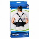 """Sport&x2011;Aid 9"""" Black Back Support with suspenders X-Large Hips 40-55"""""""