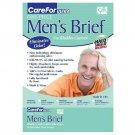 Salk Company Care Ultra Mens Briefs with Haloshield Odor Control, Large 37 - 40