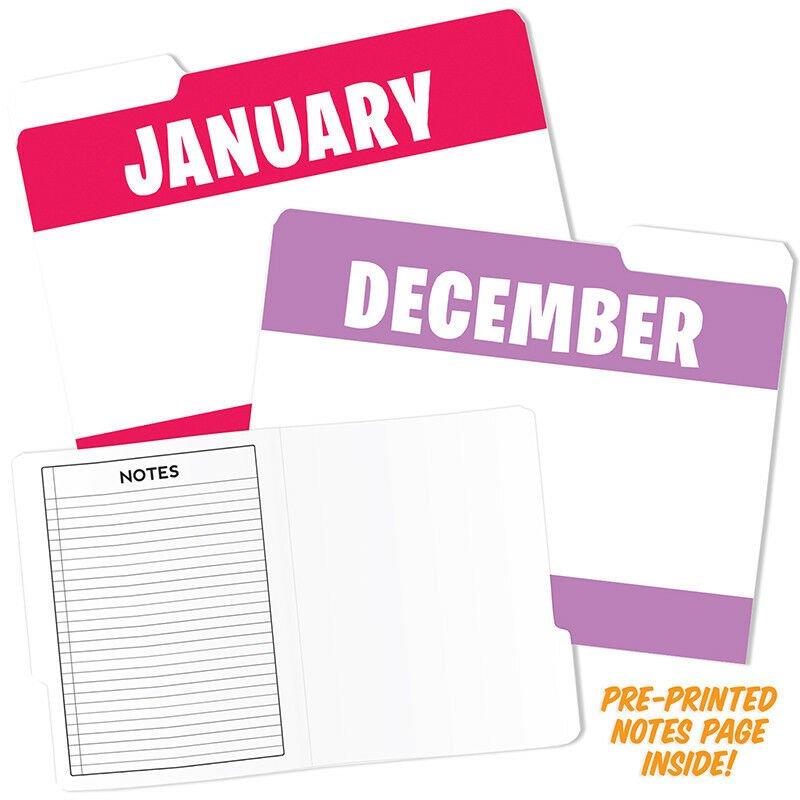 Top Notch Teacher Products TOP3394 Designer File Folders, Assorted, Set of 12