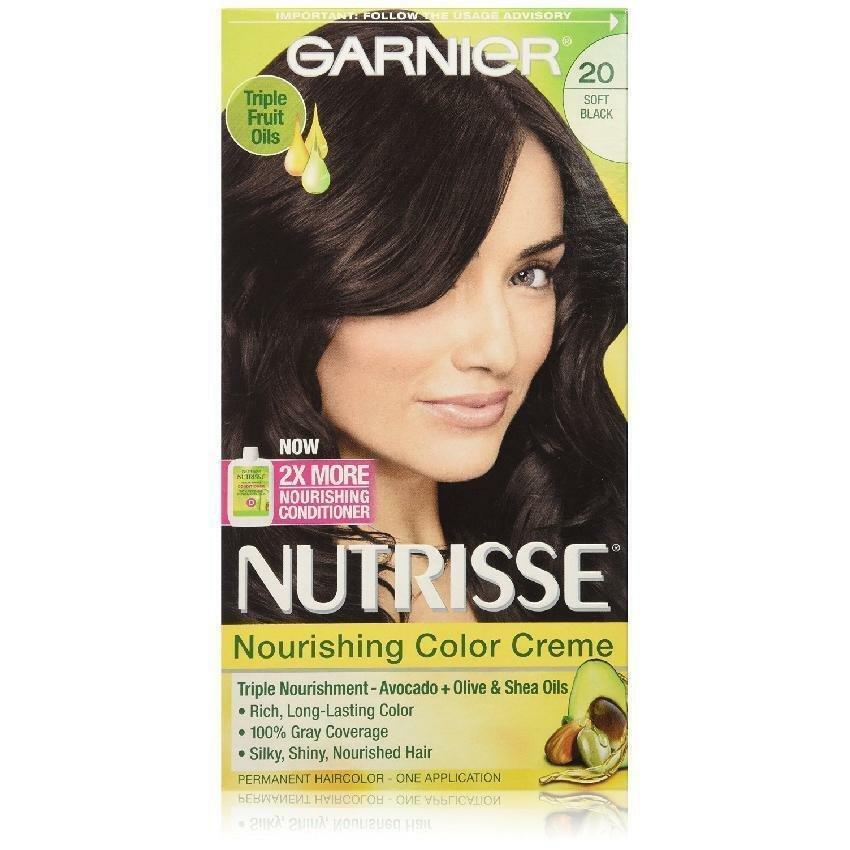 Garnier Nutrisse Nourishing Color Creme 20 Soft Black (Black Tea)