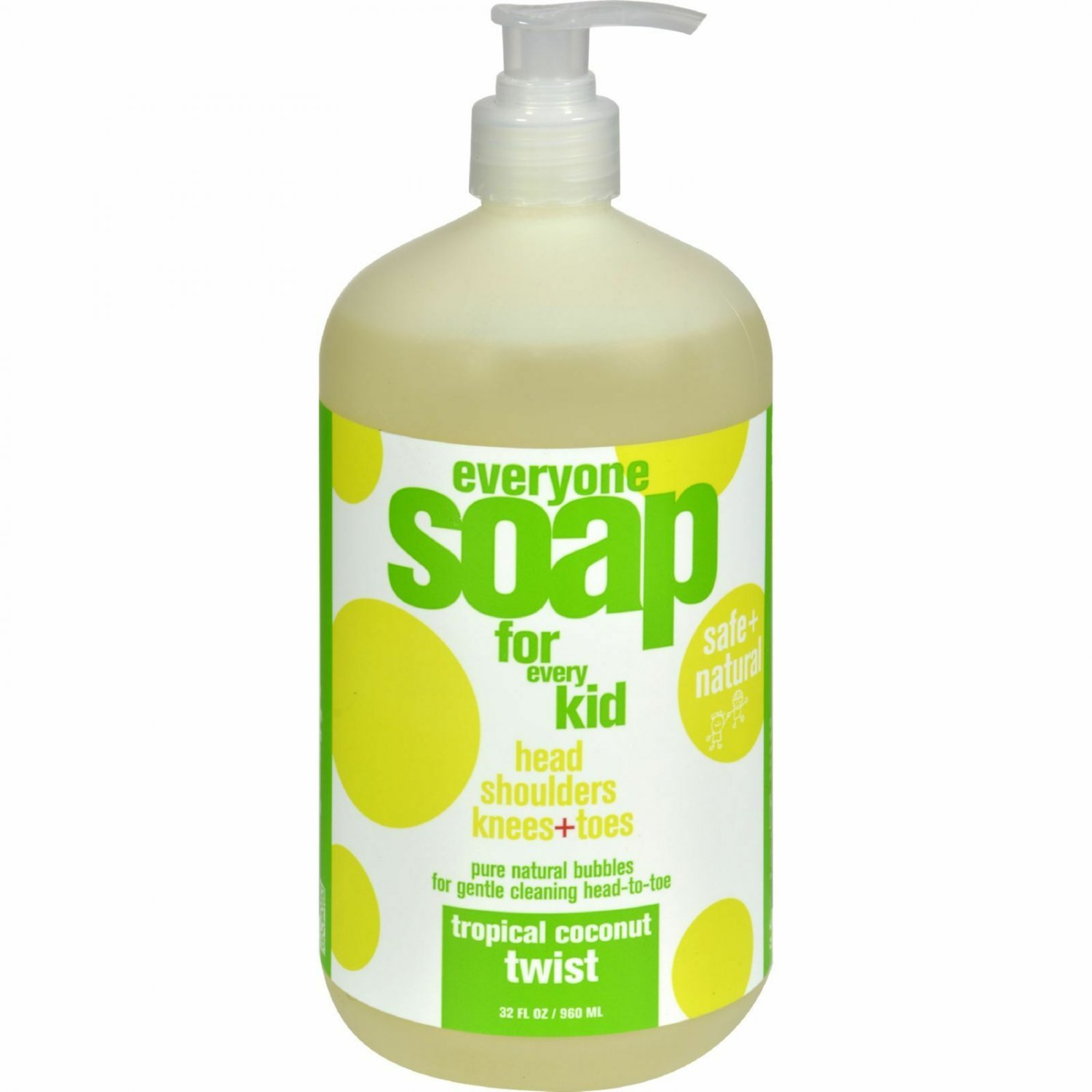 Everyone Soap for Every Kid, Tropical Coconut Twist, 32 Ounce