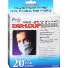 FLENTS EAR LOOP MEDICAL PROCEDURE BLUE FACE MASK - 20 COUNT