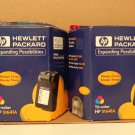 2 HP 51641A Tri Color Ink Cartridges Expired