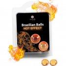 2 Brazilian Balls Hot Effect Warming Lubricant Massage oil