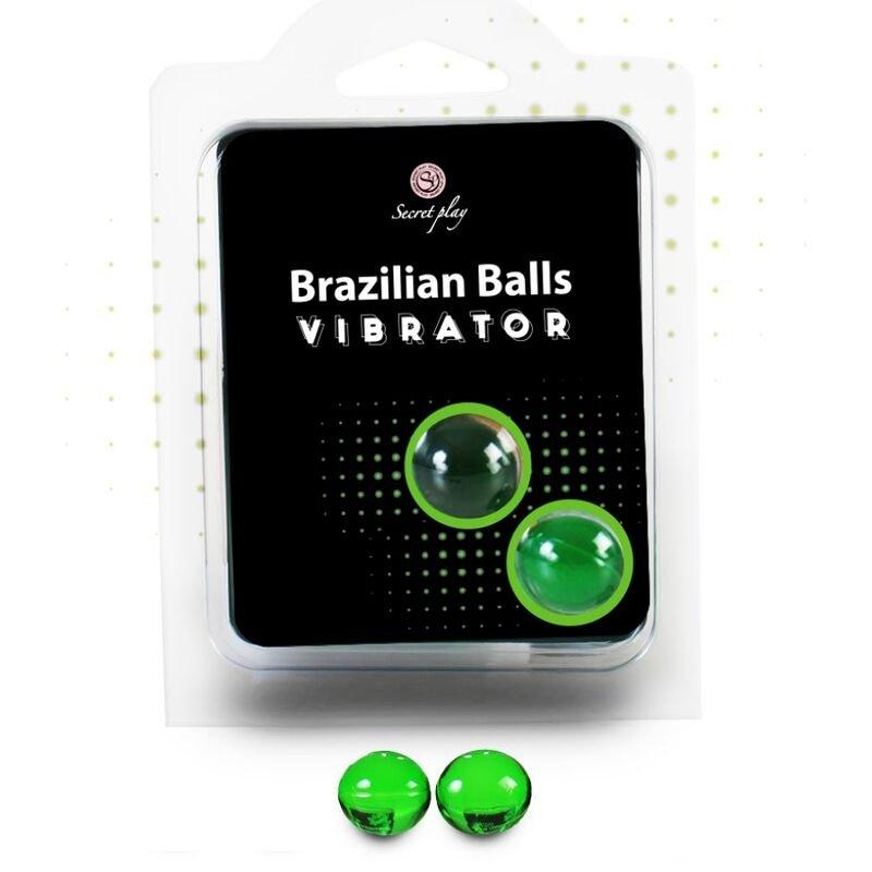 2 Brazilian Balls Vibrator Lubricant Massage oil