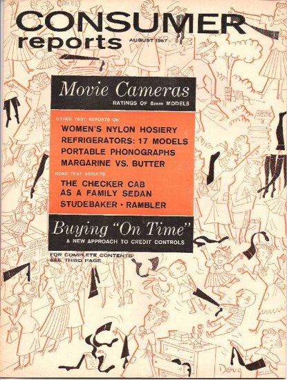CONSUMER REPORTS - AUGUST 1957