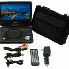 "Sylvania SDVD9070-B 9"" Rechargeable Swivel Screen Portable DVD Player w/ Remote"