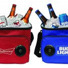 Bud Light Budweiser Soft Beer Cooler with Built-in Wireless Bluetooth Speaker