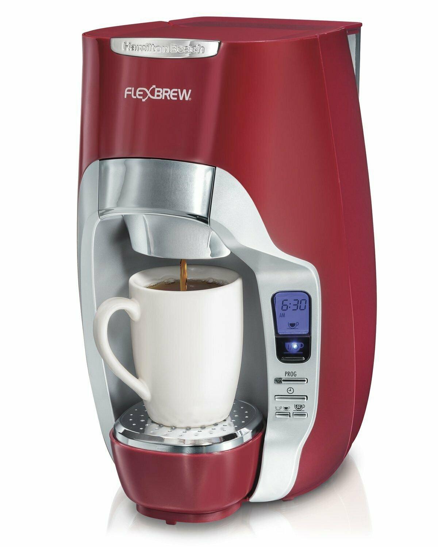 Hamilton Beach 49994 FlexBrew Programmable Single-Serve Coffee Maker - Red