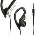 JVC Sport Clip Design Stereo Wired Earclip Headphone - Silver