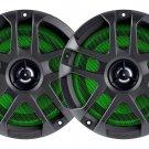 "Memphis 6.5"" Coaxial ATV UTV Marine Speakers w/ Built-in LED Lights *MXA60L"