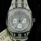 Bulova Men's Stainless Steel Silver Swarovski Crystal Accent Watch  #96C002