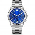 Bulova Caravelle Men' Stainless Chronograph Watch, Blue Dial in Silver #43A145