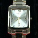 Bulova Men's Gold Finish, Quartz, Stainless Steel, Diamond, Dress Watch #97D107