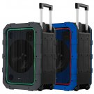 """Gemini 10"""" Rechargeable Weather-Resistant Bluetooth Portable Trolley Speaker"""