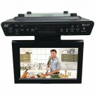 Sylvania 10-inch Under Cabinet Kitchen TV CD DVD Player w/ Bluetooth & FM Radio