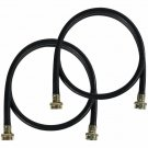 Certified Appliance 5ft. EPDM Rubber Washing Machine Fill Hoses - 2 Pack