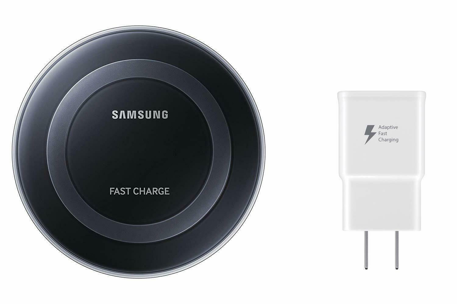Samsung Qi Certified Fast Charge Wireless Charger Pad with Wall Charger