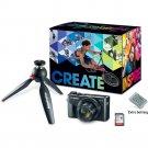 Canon PowerShot G7 X Mark II Digital Camera Video Creator Kit/Tripod-Battery-SD