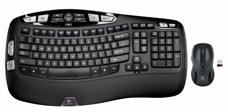 Logitech MK550 Ergonomic Wireless Keyboard & Mouse Combo