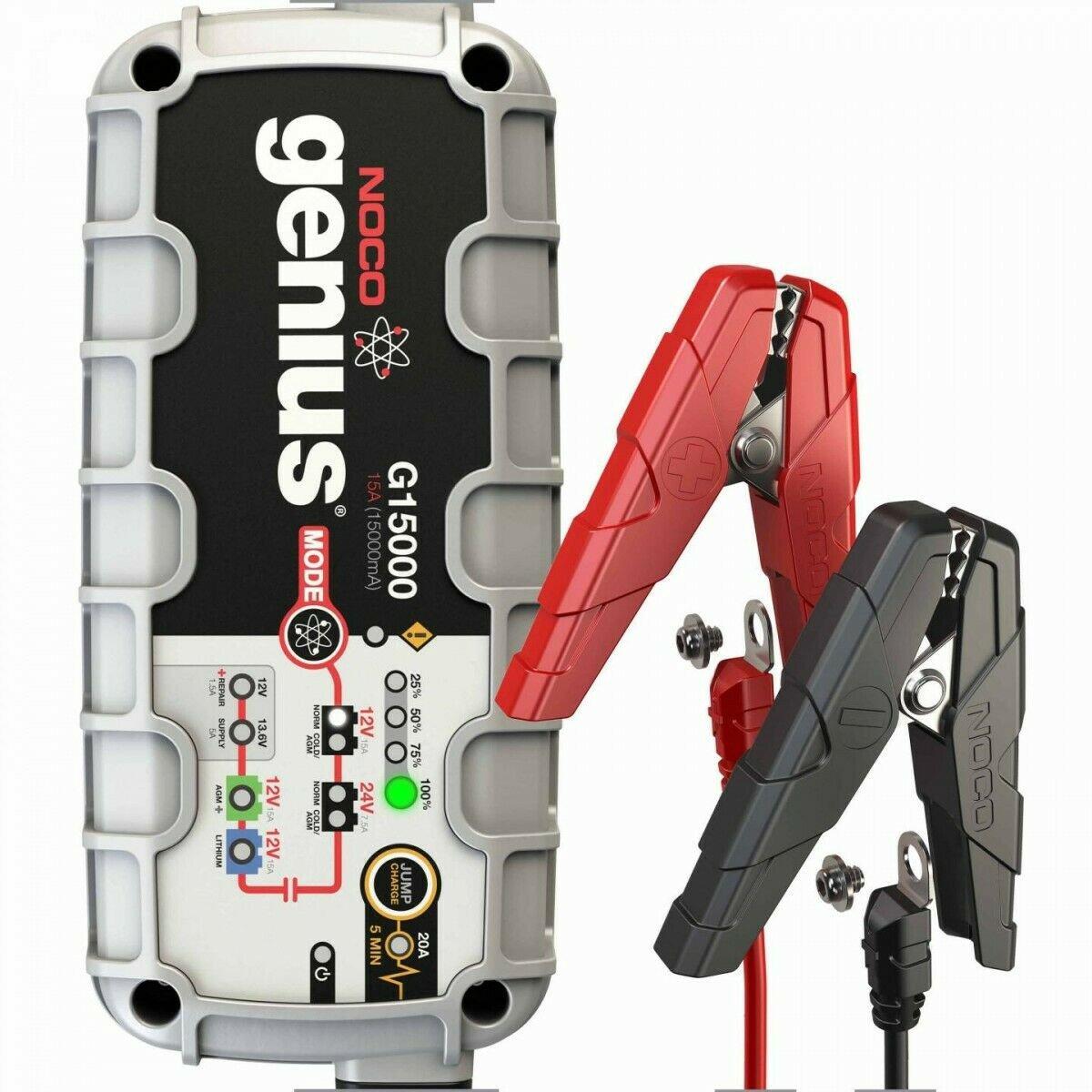 NOCO Genius G15000 12V/24V 15 Amp Battery Charger Maintainer Jump Starter