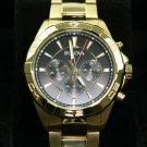 Bulova Classic Gold Tone Water Resistant Quartz Chronograph Men's Watch #97A139