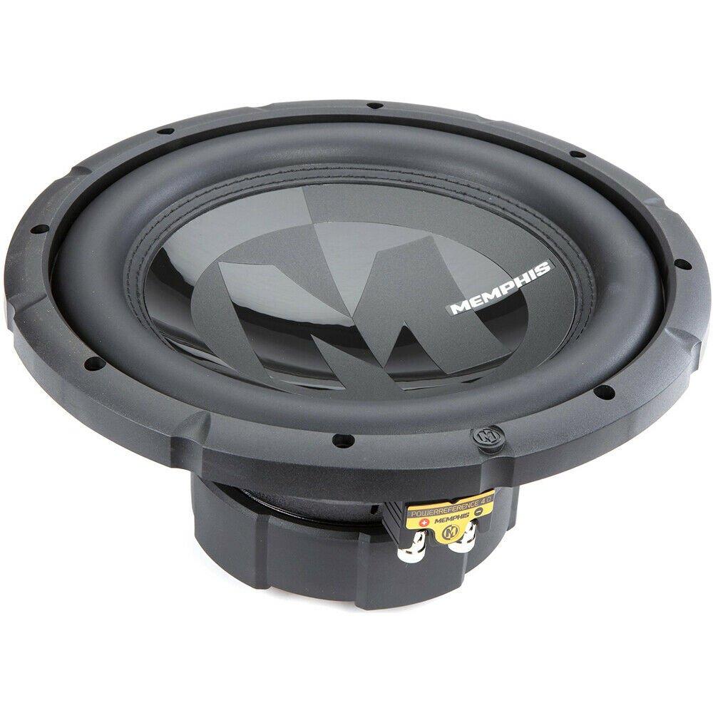 """Memphis Audio 15-PRX1244 12"""" Dual 4-ohm Voice Coil Car Subwoofer"""