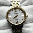 Pulsar Women's Solar Two-Tone Stainless Steel Bracelet Watch 29mm #PY5024