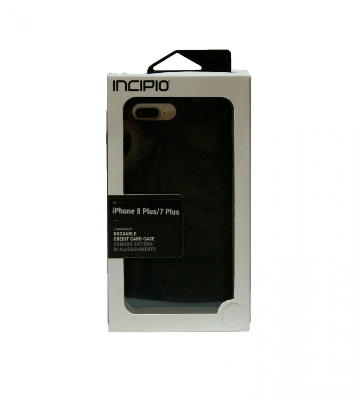 Incipio Stashback Shockproof iPhone 8 Plus  7 Plus Case w/Card Slot #IPH1504BLK