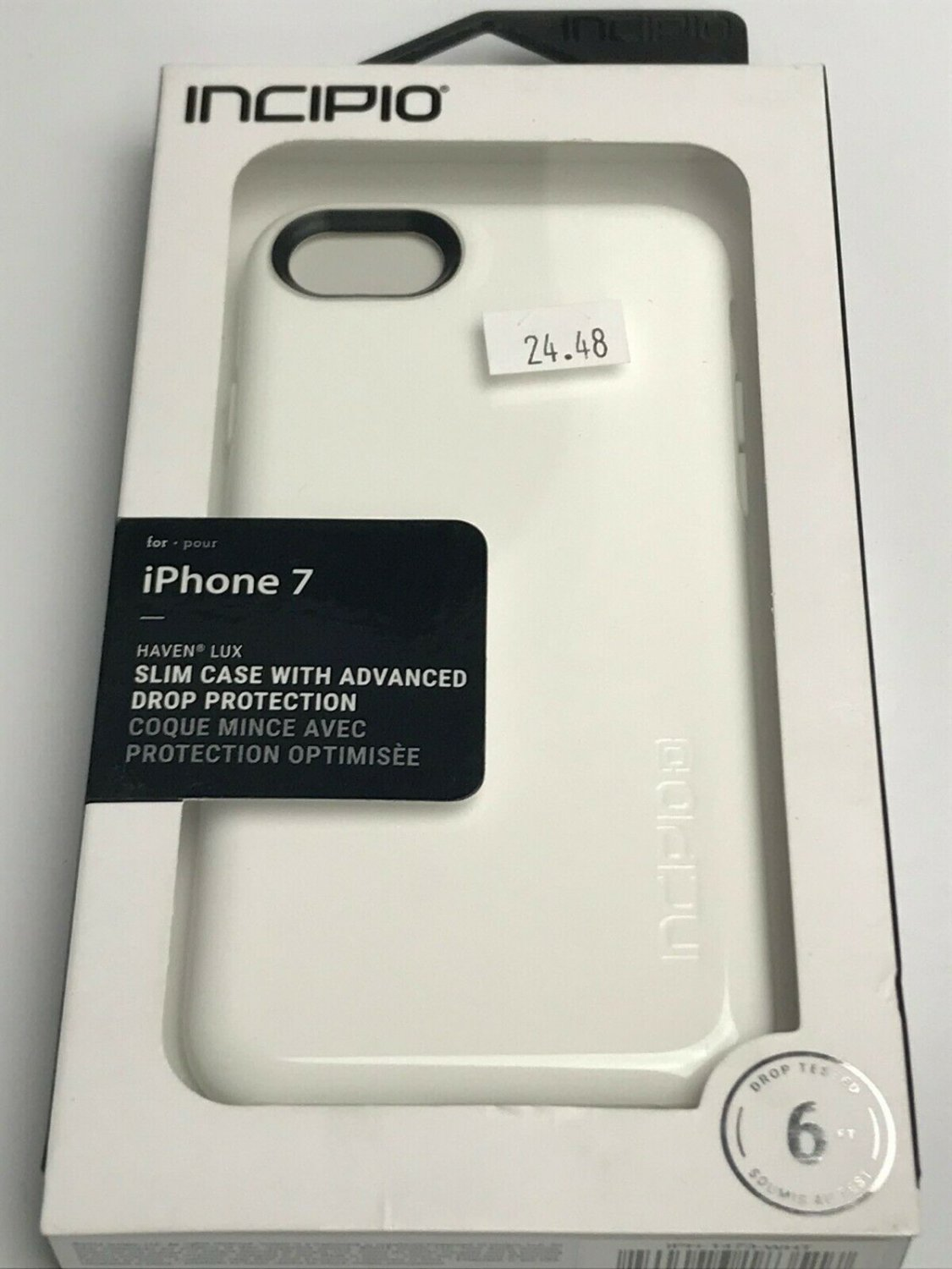 Incipio iphone 8 / 7  case Haven Lux with Padded Interior -White   #IPH1473WHT