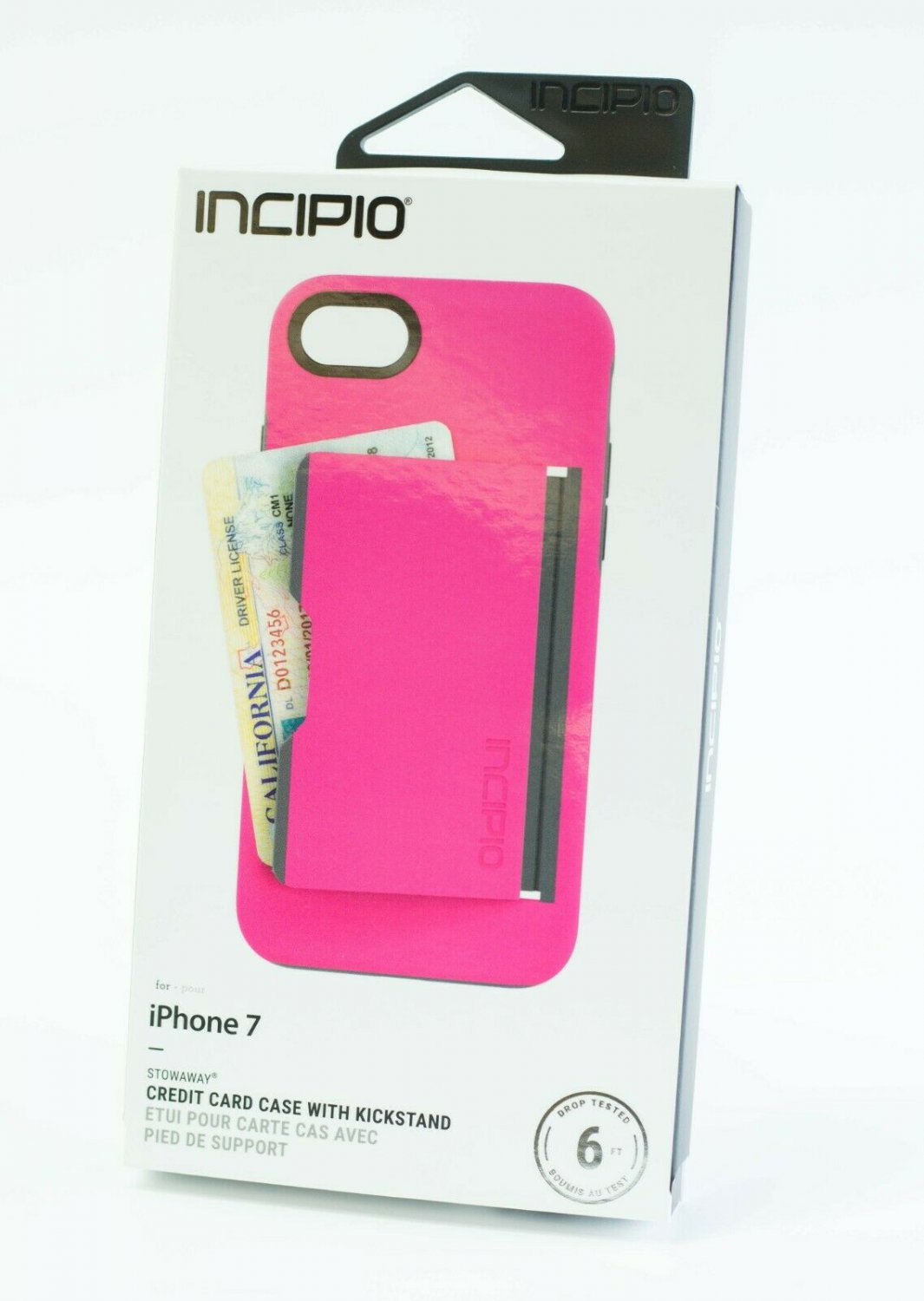 Incipio Stowaway Case for iPhone 8 & iPhone 7  - Pink #IPH1477PKC