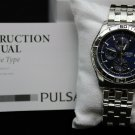 Pulsar Men's Stainless Steel Silvertone Blue Dial Chronograph Watch #PF8397