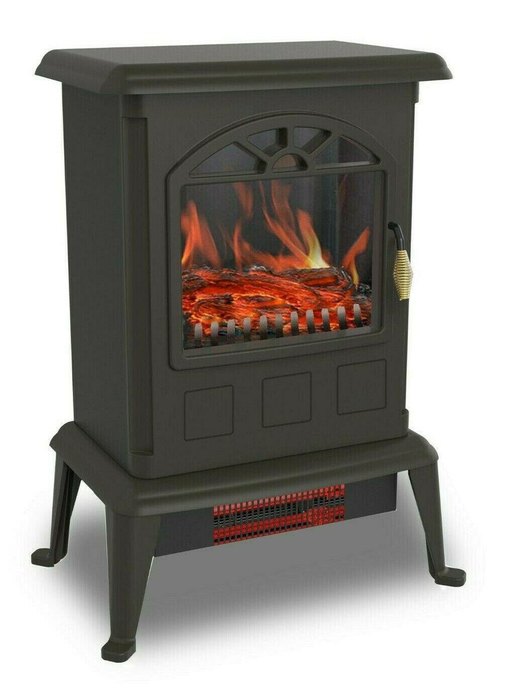 Warm Living 1500W Infrared Quartz Space Heater with Flame Effect