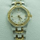 Pulsar Womens Silver & Gold Stainless Steel Watch 46 Swarovski Crystals #PTC388