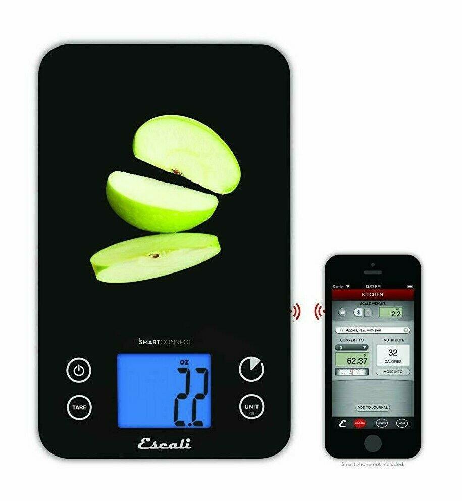 Escali SmartConnect 11 lb 5 Kg Bluetooth Digital Kitchen Scale