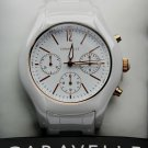 Caravelle New York-  Women's Ceramic Chronograph Analog Watch in White  #45L174