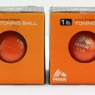 1lb Toning Ball Yoga Exercise Soft Gym Therapy Workout Weighted - Pair  #MISC