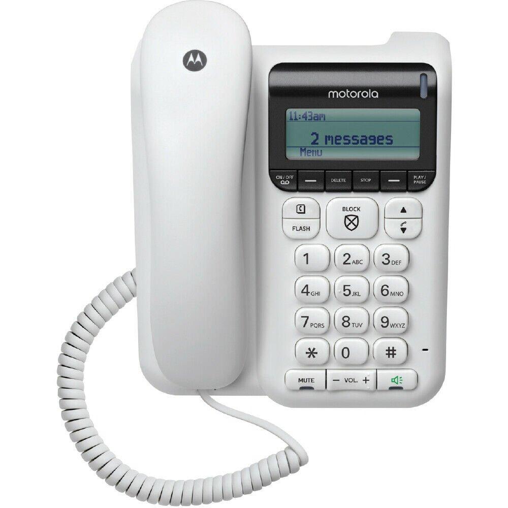 Motorola Corded Telephone - Answering Machine & Call Blocking #CT610