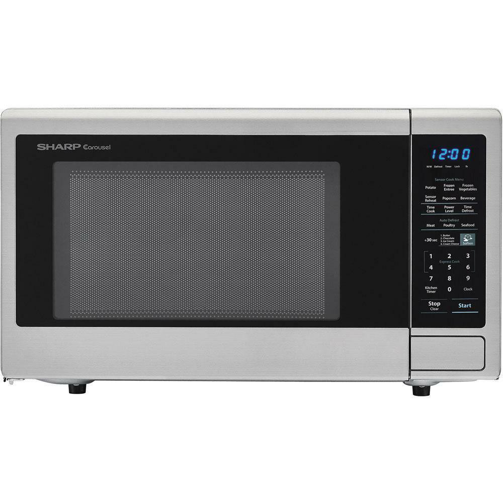 Sharp 1.4 Cu.Ft. 1000W Stainless Steel Countertop Microwave Oven