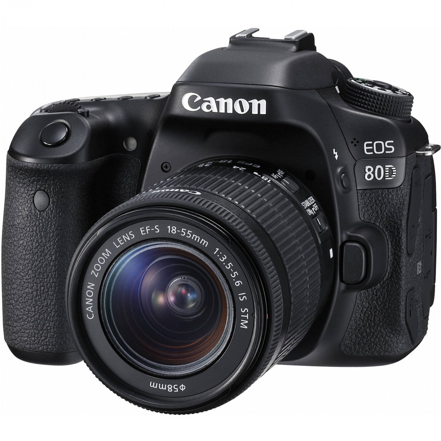 Canon EOS 80D 24.2MP Digital SLR Camera with 18-55mm Lens Built-In Wi-Fi & NFC