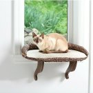 Cat Bed Window Perch Seat Mounted Shelf with Soft Cushion & Bolster