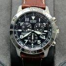 Citizen Men's Titanium and Leather Eco-Drive  Wrist Watch #BL525002L