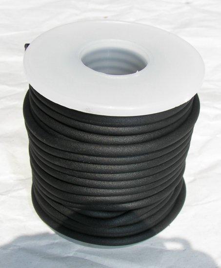 Black Round Rubber Cord-4mm