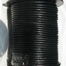 Black Round Leather Cord-0.5mm-25yds