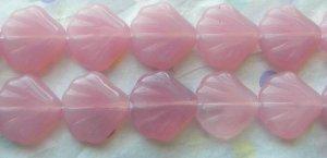 Czech Milky Opal Pink Shell Beads (15)
