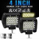 """1PC 200W 4"""" LED Combo Work Light Bar Spotlight Off-road Driving Fog Lamp Truck"""