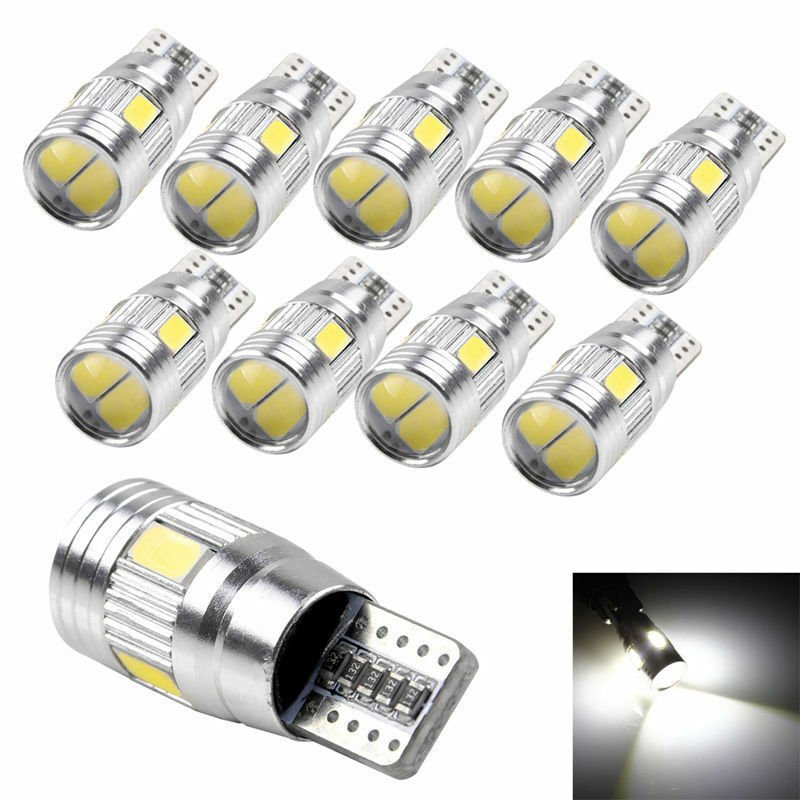 10x Error Free T10 501 194 W5W 5630 SMD LED Car HID Canbus Wedge Light Bulb Lamp